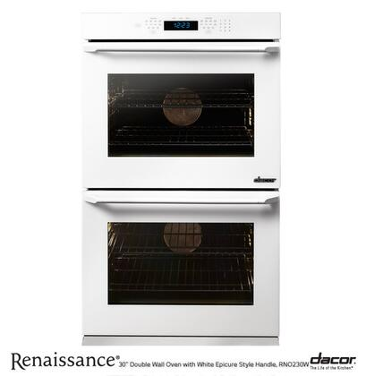 """Dacor RNO227W 27""""  Oven , in White Glass with White Epicure Handle"""