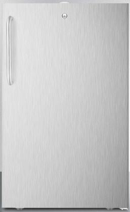 """AccuCold FS408BL7C Commercially Listed 20"""" Wide Built-In Undercounter All-Freezer With 2.8 Cu. Ft. Capacity, Factory Installed Lock, Manual Defrost, Adjustable Thermostat, 100% CFC Free in Stainless Steel"""