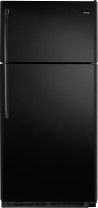Frigidaire FFHT1817LB Freestanding Top Freezer Refrigerator with 18.2 cu. ft. Total Capacity 2 Glass Shelves 4.07 cu. ft. Freezer Capacity