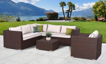 SunHaven SUN6005 Contemporary Square Shape Patio Sets