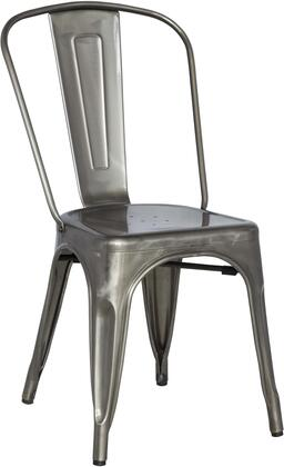 Chintaly 8022-SC Stackable Indoor and Outdoor Galvanized Steel Side Chair in