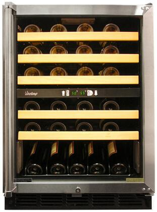 "Vinotemp VT45SB 23.75"" Freestanding Wine Cooler, in Stainless Steel"