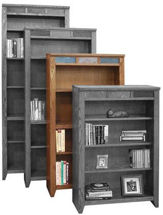 Legends Furniture OC6660GDOOak Creek Series Wood 4 Shelves Bookcase