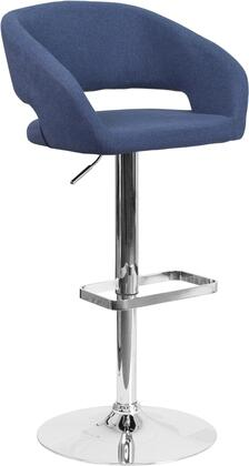 Flash Furniture CH122070BLFABGG Residential Fabric Upholstered Bar Stool
