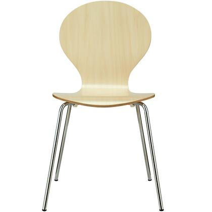 "Modway EEI-574 Insect 18"" Stackable Dining Chair with Modern Design, Chrome Legs and Wood Laminate Body"