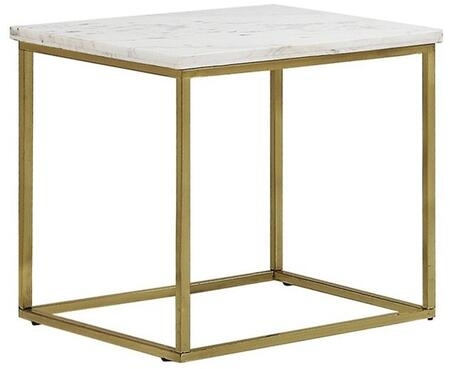 Donny Osmond Home 720417 Home Accents Series Transitional Metal Square None Drawers End Table