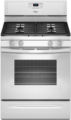 "Whirlpool WFG520S0AW 30"" Gas Freestanding Range with 4 Sealed Burner Cooktop Storage 5.0 cu. ft. Primary Oven Capacity 