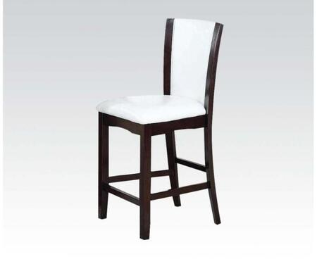 Acme Furniture 70512 Malik Series Transitional PU Leather Wood Frame Dining Room Chair
