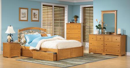 Atlantic Furniture WINFPAWQN Windsor Series  Bed