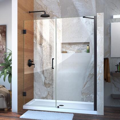 DreamLine Unidoor Shower Door with Base 12 28D 30P support arm 09 72 WM 11 16