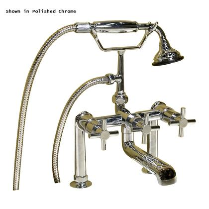 Barclay 7601 Contemporary Solid Brass Deck Mount Tub Faucet with Telephone Style Hand Shower and Cradle: