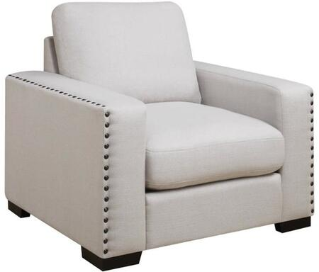 Donny Osmond Home 508046 Rosanna Series Fabric Armchair with Wood Frame in Cream