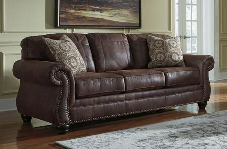 Benchcraft 8000338 Breville Series Stationary Faux Leather Sofa |  Appliances Connection
