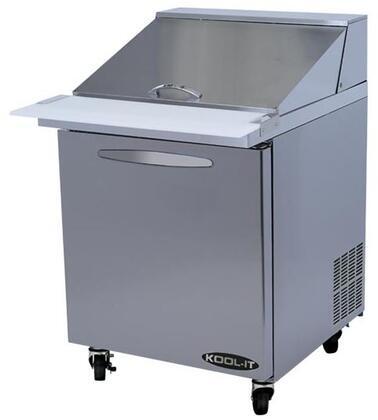 """Kool-It KSTMx """" Sandwich Prep Tables Mega Tops with cu. ft. Capacity, Doors, Shelves, Pans, HP, in Stainless Steel"""