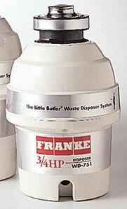 Franke WD751 Continuous Feed 3/4 HP Food Disposer