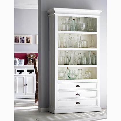 Infinita 814495011997 Halifax Series Wood 4-5 Shelves Bookcase