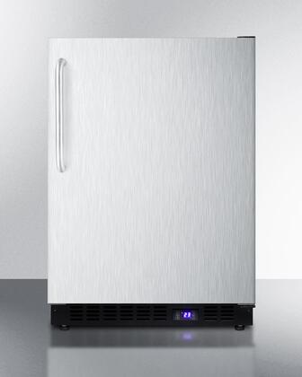 """Summit SCFF53BXCSSTB 24""""  Counter Depth Freezer with 4.72 cu. ft. Capacity in Stainless Steel"""