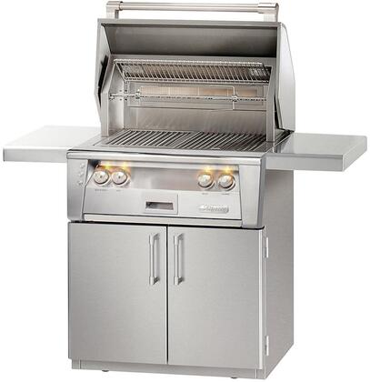 """Alfresco ALXE-30IRC-LP 30"""" All Infra Red Grill Liquid Propane With Cart in Stainless Steel"""