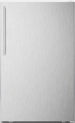 "Summit FF511LXX 20"" AccuCold Series Medical Compact Refrigerator with 4.1 cu. ft. Capacity, Crisper, Interior Lighting, Adjustable Shelves, Adjustable Thermostat, and Automatic Defrost:"