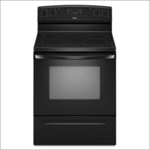 Amana AER6011VAB  Electric Freestanding Range with Smoothtop Cooktop, 5.3 cu. ft. Primary Oven Capacity, Storage in Black