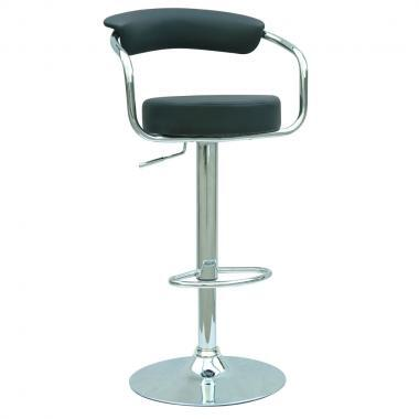 Chintaly 0326ASBLK  Bar Stool