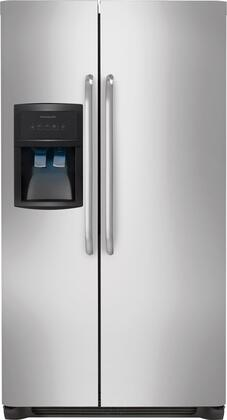 """Frigidaire FFHS2322MS 33""""  Side by Side Refrigerator with 22.1 cu. ft. Capacity in Stainless Steel"""