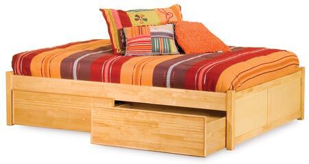 Atlantic Furniture CONFPBLCKG  King Size Storage Bed