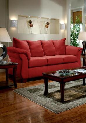 Chelsea Home Furniture Verona Iv Fabric Sofa 6703rb Red Brick