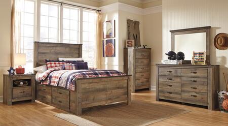 Signature Design by Ashley Trinell Bedroom Set B446FPSBDM2NC