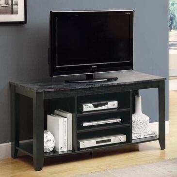 "Monarch I 352XX 48"" TV Console, with Marble-Look Top, Tapered Legs, and Three Open Shelves"