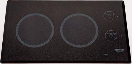 Kenyon B79 Lite-Touch Q Electric Cooktop with 2 Burner Trimline, Beveled-Edge Black Glass, On and Hot Burner Indicator Lights in Black