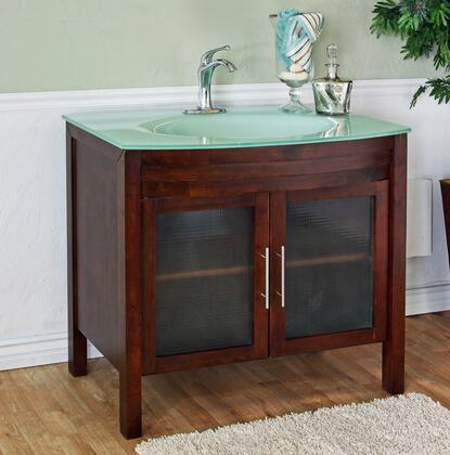 "Bellaterra Home 202140X 39.4"" Single Sink Vanity - Wood"
