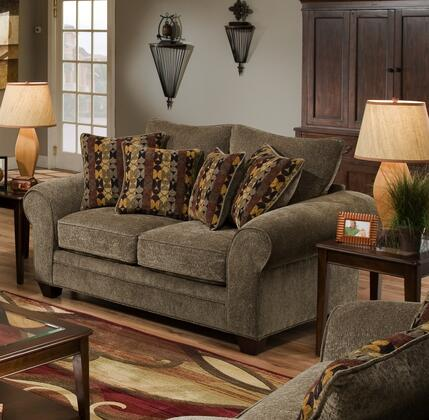 Chelsea Home Furniture 1837023953 Clearlake Series Fabric Stationary with Wood Frame Loveseat
