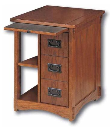 Powell 356 Traditional Wood Rectangular None Drawers End Table