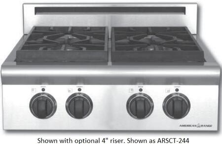 American Range ARSCT244ISL  Liquid Propane Sealed Burner Style Cooktop, in Stainless Steel