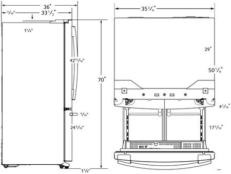 Samsung Appliance Rf28hfedtbc 36 Inch French Door