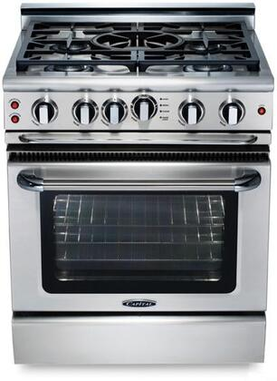 "Capital GSCR304QN 30"" PRECISION Series Gas Freestanding Range with Sealed Burner Cooktop, 4.1 cu. ft. Primary Oven Capacity, in Stainless Steel"