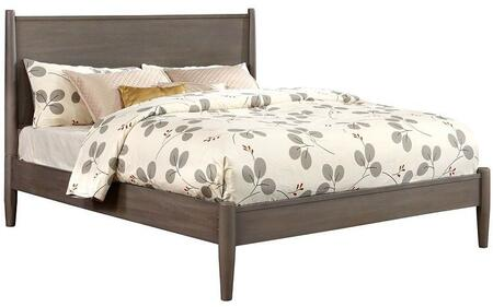 Furniture of America CM7386GYCKBED Lennart Series  California King Size Panel Bed