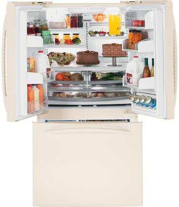 GE PFSF5NJXCC  French Door Refrigerator with 25.1 cu. ft. Capacity in Bisque