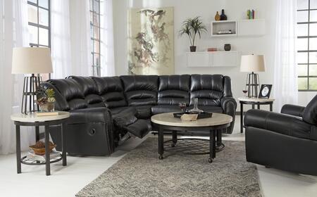 Milo Italia MI2732SETBLAC Darius Living Room Sets