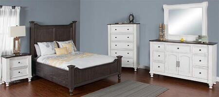 Sunny Designs 2308ECKBDMNC Carriage House King Bedroom Sets