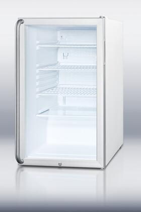 Summit SCR450LBISH  Compact Refrigerator with 4.1 cu. ft. Capacity in Stainless Steel