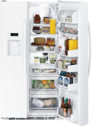 GE DSHF9NGYWW Freestanding Side by Side Refrigerator