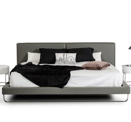 VIG Furniture VGJY-4016-GRY Modrest Ramona Modern Grey Leatherette Bed