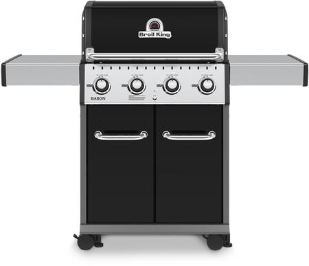 """Broil King 922x5x 24"""" Baron 420 with 4 Stainless Steel Dual-Tube Burners, 644 sq. in. Cooking Space, 40000 BTU Main Burner in x"""