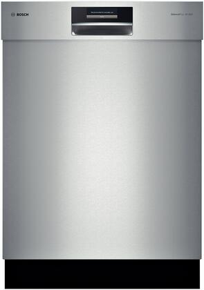 "Bosch Benchmark SHExPT55UC 24"" Built-in Dishwasher with Recessed Handle, SteelTouch Control Panel, Delay Start, Flexible Silverware Basket and Recess Handle in Stainless Steel"