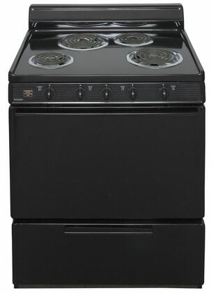 """Premier EDK100  30"""" Electric Range with 3.9 Cu. Ft. Capacity, Two 8"""" Coil Element, Two 6"""" Coil Elements, 4"""" Porcelain Backguard, ADA Compliant, Surface Signal Light and Lift Top with Support Rod"""