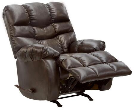 "Catnapper Berman Collection 39"" Chaise Rocker Recliner with Plush Radius Arm Styling, Pull Tufted Designer Sew Treatment, Extra Padded Seating and Soft Polyester Fabric Upholstery"