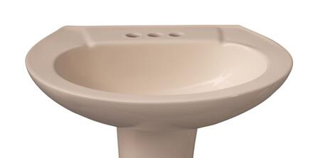 "Barclay B/3-202 Hampshire 575 Basin Only, with Overflow, 4.5"" Basin Depth, and Vitreous China Construction"