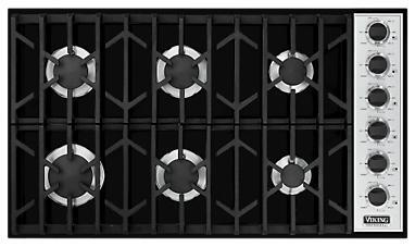 Viking VGSU1646BBKLP Professional Series Gas Sealed Burner Style Cooktop